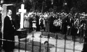 14.attēls Pieminekļa atklāsana Ernestam Sokolovskim 1936.gada 23. jūnijā Vendas kapsētā